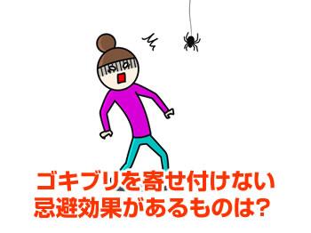ゴキブリを寄せ付けない忌避効果があるものは?