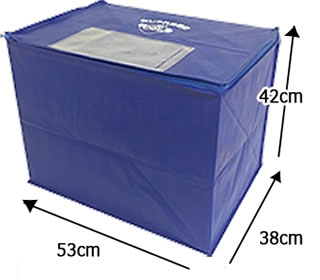 宅配クリーニング詰め放題バッグのサイズ/大きさ