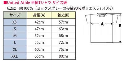 オリジナルTシャツ作成サイズ・大きさ