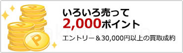 楽天買取成約で2,000ポイントプレゼントキャンペーン