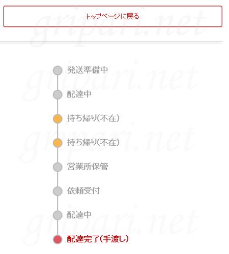Rakuten EXPRESSの再配達の状況確認:配達完了